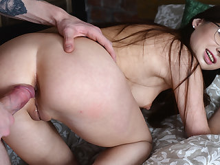Casual anal with cute coed